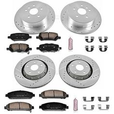 Powerstop Brake Disc And Pad Kits 4-wheel Set Front & Rear For K5866 #car #truck #parts #brakes #brake #discs, #rotors #hardware #k5866