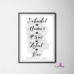 Excited to share this item from my #etsy shop: Islamisch, Islamin 5 sarti, Poster, islamic, shahadah, Islam, dua, islamic decor, islamic wallart, islamicquotes, koran, quran