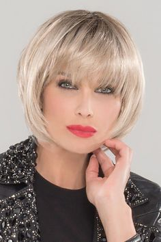 Petite/Average Blues by Ellen Wille Wigs - Monofilament Crown Wig - Hair Tips Layered Bob Hairstyles, Wig Hairstyles, Wigs For Cancer Patients, Natural Hair Styles, Short Hair Styles, Blonde Layers, Jon Renau, Blue Wig, Hairstyle Ideas