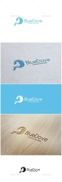 Blue Dove Logo — Vector EPS #hope #nature • Available here → graphicriver.net/...