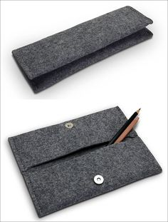 A simple felt pencil case with multiple pockets creates the perfect place to store pens and pencils as well and maybe even a phone charger and lipstick for when she's on the go.