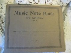 1922 Music Note Book Eye Ear Hand No 1 Blank by LeapingFrogDesigns, $5.00