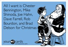 True that - All I Want For Christmas!! Linkin Park e-card