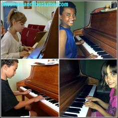 Sharla, blogger at thechaosadtheclutter.com and mother of five, introduced her children to piano with HoffmanAcademy.com and plans to use the videos as a review course while their regular lessons are on hold for the summer.