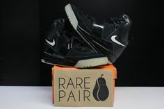 "RARE Nike Air Yeezy 1 Promo Sample ""BLACK GLOW"" sz 12 Kanye 350 boost 750 V2 2…"