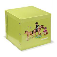 Boite carrée 2 en 1 à motif Playmobil Vert - Playmobil - Boites - Petits rangements - Toute la déco - Décoration d'intérieur - Alinéa