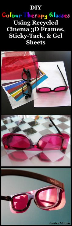 DIY Colour Therapy Glasses I Made These Because Cant Afford To Spend