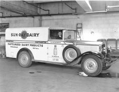 One Fancy Milk truck coming up. Circa 1930 White Open front delivery Must of been a sight upon delivery. Springfield Body.