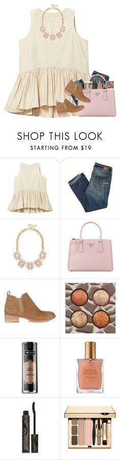 """""""giving me a million reasons"""" by mehanahan ❤ liked on Polyvore featuring American Eagle Outfitters, Prada, Tory Burch, BHCosmetics, Kat Von D, Estée Lauder, Urban Decay and Clarins"""