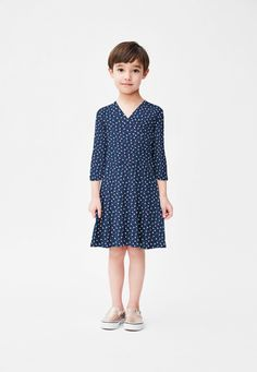 Perfect Wrap Dress in Twilight Dot (Children)