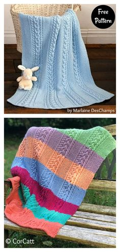 6 Cable Baby Blanket Free Knitting Pattern
