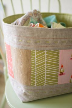 Storage Cloth bowls. Perfect for doll clothing, and other misc. toys.