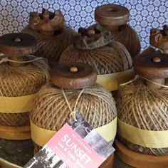 Re-cycled Sunset Twine factory spools