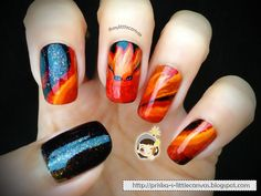 Nails by Naruto Inspired Nail Art : Chibi Kyuubi *_* Naruto Nails, Anime Nails, Naruto Und Sasuke, Anime Naruto, Amazing, Chibi, Nail Art, Nail Ideas, Beauty