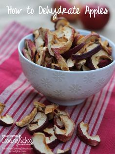 As much as I love fall's crisp apples, I can't eat them all before they go bad. That's why I enjoy making pies, apple sauce and muffins. Or, I preserve them through dehydrating -- which is easy and requires very little storage space. Here's how.   TraditionalCookingSchool.com