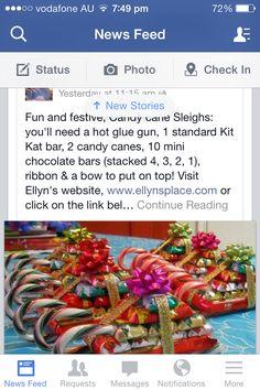 Santa sleigh candy cane parcels