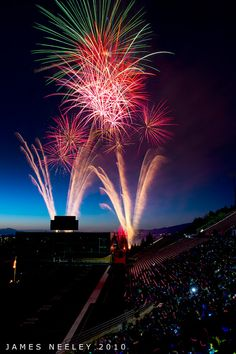 "Fireworks at USU's Romney Stadium, Logan, Utah - ""Let it Begin!"" by James Neeley, via Flickr    #buyahomeinutah #www.buyahomeinutah.com #remax #remaxmetro #remaxutah #utahrealestate #realestate #homes #home #house"