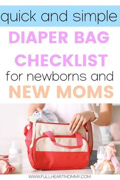 Learn what to pack in a diaper bag when you're taking your baby out of the house, plus stylish diaper bag suggestions that wont make you miss your purse! Diaper Bag Checklist, Diaper Bag Essentials, Best Diaper Bag, Baby Diaper Bags, What To Pack In A Diaper Bag, Diper Bags, Baby Changing Bags, Newborn Diapers, Disposable Diapers