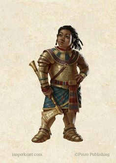 probably in dominion/territory of Thyatis (Empire of) or 'Thyatia' (Thyatis, Empire of) area(s)/region(s) [Female Halfling Axe Plate Mail Armor Fighter Paladin - Pathfinder PFRPG DND D&D fantasy] Black Characters, Dnd Characters, Fantasy Characters, Female Characters, Fantasy Figures, Fantasy Character Design, Character Inspiration, Character Art, Character Ideas