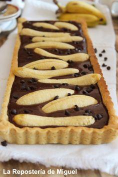 Tartaleta de chocolate con platano