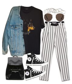 """""""Sin título #2193"""" by alx97 ❤ liked on Polyvore featuring Zara, Givenchy, Levi's, Balenciaga, Converse, H&M and MANGO"""