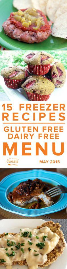 Gluten Free Dairy Free Menu May 2015 | Once a Month Meals | Freezer Cooking | Freezer Meals | Custom Menus | Menu Planning