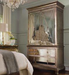 Sanctuary Bedroom Set with Tufted Bed by Hooker   Hooker Bedroom Furniture