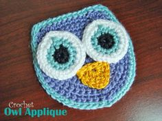 Free Crochet Pattern - Owl Applique   craft town