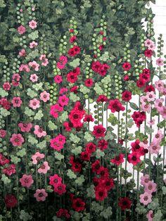 Hollyhock Quilt by Ans Schipper Vermeiren- Stunning!