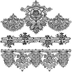 Lace Print Paper | Free 3 Lace Borders for Digial Stamping in high quality 12 inch Wide