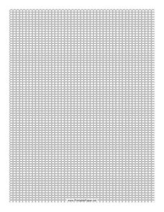 This Seed Bead Square Pattern beadwork layout graph paper features seed beads in a single-row square pattern. Free to download and print