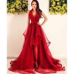 New Fashions Long Prom Dress Red Evening Dress Organza Prom Dresses Sexy Formal Evening Gowns - Thumbnail 1 Pageant Dresses For Teens, V Neck Prom Dresses, Homecoming Dresses, Evening Dresses, Ball Dresses, Party Dresses, Strapless Dress, Elegant Bridesmaid Dresses, Trendy Dresses