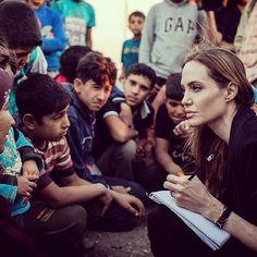 Source: Instagram user unrefugees - Angelina Jolie.