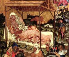Mestre del retaule de Vyssi Brod o de Hohenfurth (c. 1350), Naixement, Galeria nacional de Praga Medieval Art, Renaissance Art, Saint Gregory, St Jerome, St Agnes, Gothic Art, Triptych, Religious Art, African Art