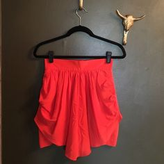 ANILEE// tulip mini skirt Drapey orange skirt 100% silk, worn once, like new condition ✨ Anthropologie Skirts Mini