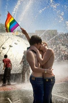 This is truly amazing it looks fun, it's cute, and hot all at once #seattlepride #cutecouple