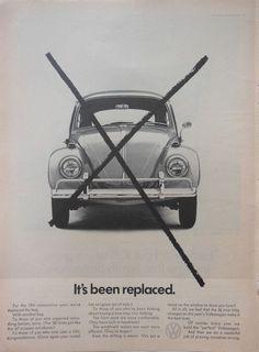 VW VOLKSWAGEN BEETLE BUG AD 1960s original retro vintage classic car advertising