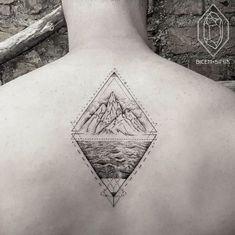 2017 trend Tattoo Trends - Geometric Landscape Tattoo by Bicem Sinik...