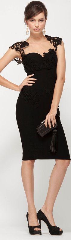 Ermanno Scervino black lace dress.  women fashion outfit clothing stylish apparel @roressclothes closet ideas