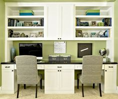 rec room with half wall for office - Google Search