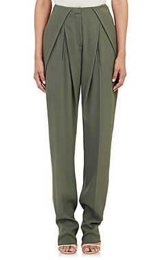 Esteban Cortazar Crepe Trousers - Straight - Barneys.com