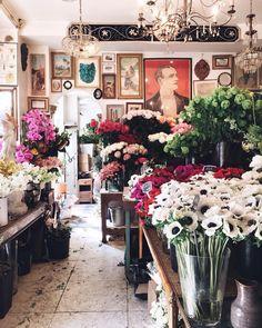 Artsy flower shop