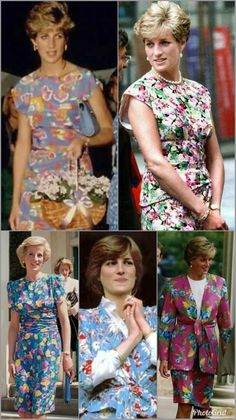 England's Rose in flowery 👗 Princess Diana Fashion, Princess Diana Pictures, Princess Diana Family, Princes Diana, Phoebe Cates, Whitney Houston, Diana Williams, Lady Diana Spencer, Madonna
