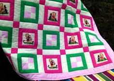 Gorgeous baby blanket / Patchwork quilt / green by TextileHomeware, $74.00