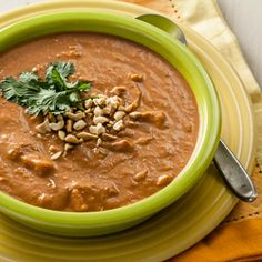 Curried Peanut, Sweet Potato, and Tomato Soup for The Kids Cook Monday
