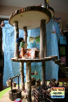 Nevermind a dollhouse!  Make a  Fairy House! ~Pink and Green Mama
