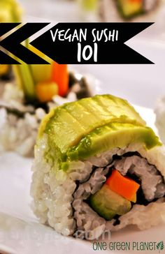 How to Prep Veggies, Cook Rice and Make Yummy Veggie Sushi Rolls. Happy International Sushi Day! http://onegr.pl/1uD66TB #vegansushi #recipe