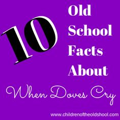 """10 Old School Facts About Prince's """"When Doves Cry"""" (Especially Number 3)"""