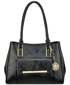 Anne Klein Shimmer Down Large Satchel - All Handbags - Handbags & Accessories - Macy's