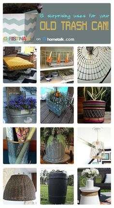 15 old trash can upcycles